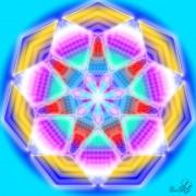 Enlarge Mandala based on seven Photo