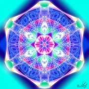 Enlarge Blue network Photo