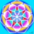 Mandala creata pe sapte