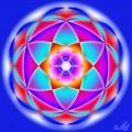 Mandala creata pe sase